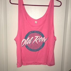 Old Row boxy cropped tank top